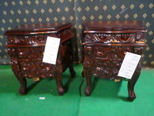 UK STOCK Gold , Silver ,Matt Black , Ivory French Rococo mahogany Bedside