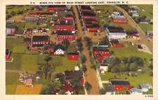 Franklin North Carolina Birds Eye View Main Street Antique Postcard J52978