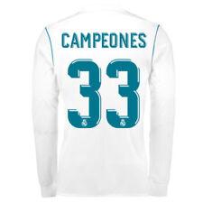 Camisetas de fútbol de clubes españoles de manga larga talla M