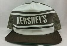 Vintage NOS Hershey's Milk Chocolate Brown White Trucker Snap Back Hat Cap Mesh