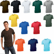Bequem sitzende Hanes unifarbene Herren-T-Shirts mit Rundhals