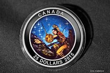 2015 $25 Canada - Wounded Bear - 1 oz. .9999 Silver Glow-in-the-Dark Proof Coin
