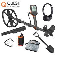 Quest Q20 Metalldetektor mit 9,5 x 5 TurboD Wasserdichte Suchspule