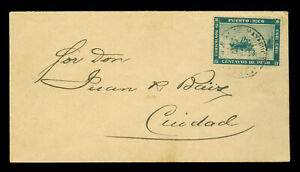 "PUERTO RICO 1893 COLUMBUS landing 400th Anv Sc#133 used ""MAYAGUEZ""on small COVER"
