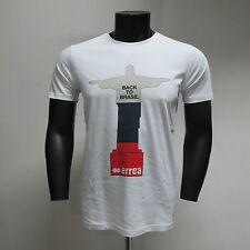 ERREA'REPUBLIC t-shirt uomo m/corta mod.JESUS col.BIANCO/BLU TG.XL estate 2014