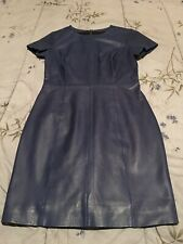 Muubaa Blue Leather Dress - Size 4
