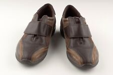 ECCO Womens Loafers Size EUR 37 / US 6 1/2 Brown Suede / Smooth Leather / Gold