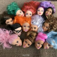 6x Random Mattel Barbie Styling Makeup Head Multi Colored Hair Girl Giocattoli