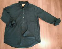 Cabela's Outfitter Series Men's Green Long Sleeve Button Down Size XL - Nice!