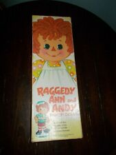 Vintage 1972 Raggedy Ann And Andy Paper Dolls THE BOBBS MERRILL COMPANY
