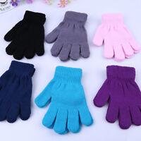 Kids Magic Gloves & Mittens Girl Boy Kid Stretchy Knitted Winter Warm Gloves