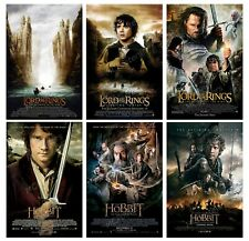 """Lord of the Rings Hobbit I Ii Iii 6 Poster Canvas 11"""" x 17"""" Set - Mset27"""