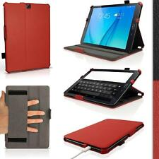 Red PU Leather Case Cover  Screen Protector Samsung Galaxy Tab S2 9.7''