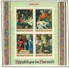 "Burundi 1967 V.F. MH Souvenir Sheet on list ""Madonna & Child"""