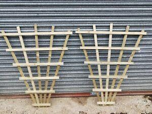 4ft x 3.5ft LARGE QUALITY FAN TRELLIS PAIR HEAVY DUTY GARDEN PLANT UK FREE P&P