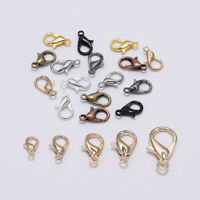 50pcs Alloy lobster Clasp Hooks For Necklace Bracelet Chain DIY Jewelry Making