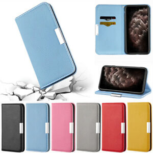 Litchi Wallet Leather Flip Cover Case For iPhone 13 12 Pro 11 XR XS Max 7 8 Plus