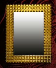 3-d Espejo de Marco Mauro Pared Dorado Madera 85x65 cm Kristall-Form
