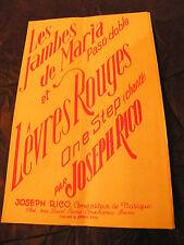 Partitura Los piernas de Maria Labios Rojas Joseph Rico