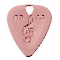 Metal Guitar Pick Plectrum for Bass Acoustic Electric Guitar Part Rose Gold