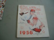 1956 Philadelphia Phillies Yearbook Robin Roberts Richie Ashburn