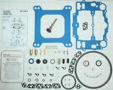 NO STICK BLUE EDELBROCK CARB REBUILD KIT W/STEEL PUMP ASSEM 1403 1405 1406 1407