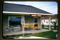 1957 Dyer, Indiana, Dining Room and Sign, Original 35mm Slide a13a