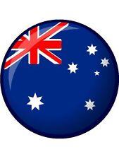 "Novelty Australia Flag 7.5"" Edible Wafer Paper Cake Topper personalised"