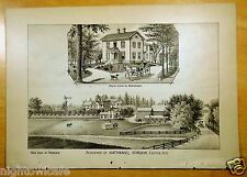 Antique Print 1882 RESIDENCE OF NATHANIEL GORDON, EXETER, NH New Hampshire
