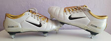 Nike Air Zoom Total 90 III Football Boots, White & Gold, UK Size 9.