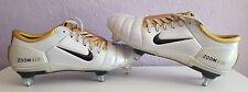 Nike AIR ZOOM TOTAL 90 III Scarpe da calcio, Bianco & gold, taglia UK 9.