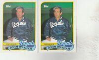 FREE SHIPPING-MINT-1989 (ROYALS) Topps #374 John Wathan MGR-2 CARDS