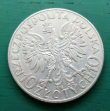 More details for 1932 poland silver 10 zloty coin #114