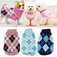 Pet Cat Dog Knit Jumpsuit Warm Winter Sweater Coat Vest Jacket Clothes Costume