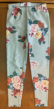 GAPKids Girl size 10 (L)  Gray Elastic Waist Floral Pattern Stretch Pants