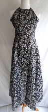 Bari Jay Black Silver Floral Shimmer Butterfly Formal Prom Gown Dress Size 3 - 4