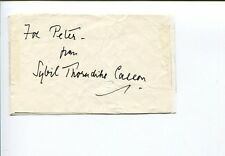 Sybil Thorndike Stage Fright Macbeth Gone to Earth Tony Award Signed Autograph