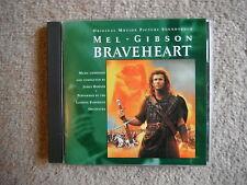 BRAVEHEART MEL GIBSON OST CD JAMES HORNER US PRESSING 1995 EXC