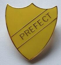 PREFECT SCHOOL SHIELD BADGE YELLOW ENAMEL - BNIP - FREE P&P