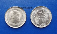 MONEDA de 5 pesetas 1957  *60  Franco S/C