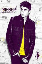 2013 JUSTIN BIEBER AGAINST GRAFFITI ON WALL POSTER 22x34 NEW FREE SHIPPING