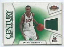 2010-11 Threads Brandon Jennings Century Collection GU JERSEY RELIC 20/399 BUCKS