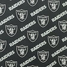 By the Yard 36 x 58 NFL Raiders Las Vegas Cotton Fabric Black Material for Mask