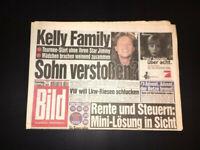 BILD ZEITUNG 29. November 1997 KELLY FAMILY SOHN VERSTOSSEN Jimmy Kelly