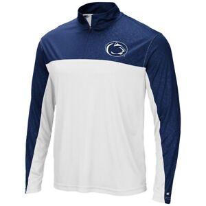 Penn State Nittany Lions NCAA Men's Blue/White 1/4 Zip Jacket Size XXL - NWT