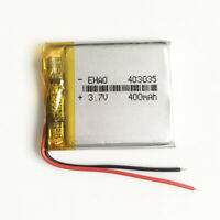 3.7V 400mAh 403035 Lipo Polymer rechargeable Battery For MP3 DVD GPS bluetooth