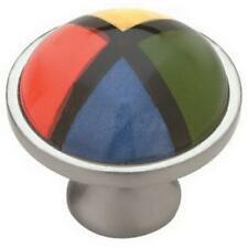 (1) Betsy Fields Design PBF132Y-MIX Ceramic/Nickel 4 Color Drawer Pull Knob