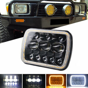 5x7'' 7x6'' LED Headlight Hi-Lo Combo Beam Halo DRL For Jeep Cherokee Hilux