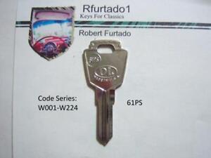 Key Blank - Vintage Peugeot, Simca secondary key mid 60's (see code series) 61PS