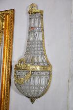 Applique Cristaux Murale Lampe Antique Laiton Lustres Mur Lampes Cristal